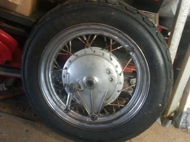 Jan 18 Rear wheel removed